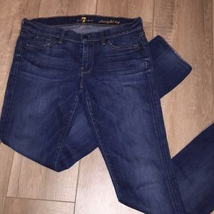 7 for All mankind size 28 straight leg